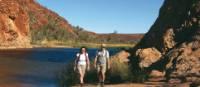 Trekkers enjoy the scenery at Ellery Creek on the Larapinta Trail | Liz Rogan
