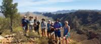 Group shot as we trek up Serpentine Chalet | Linda Murden
