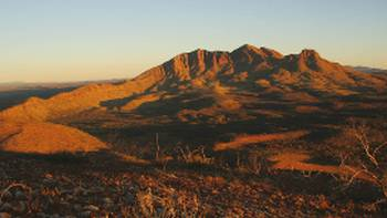 Mount Sonder from the lookout on Stage 11 of the Larapinta trail.   Darren Schiller