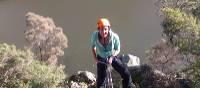 Rock climbing in Cataract Gorge, near Launceston