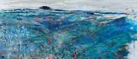 An artists palette preparing vibrant colours of the landscape